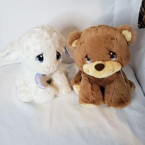 Precious moments teddy plush set of 2